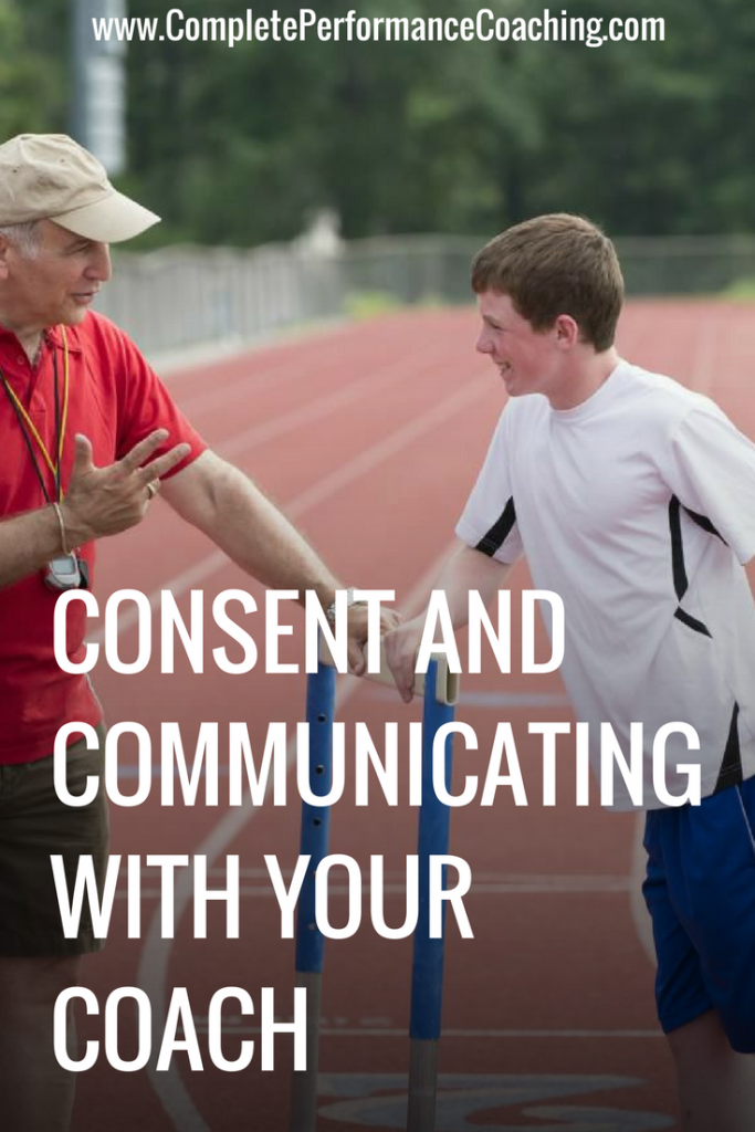 Consent and Communicating with Your Coach