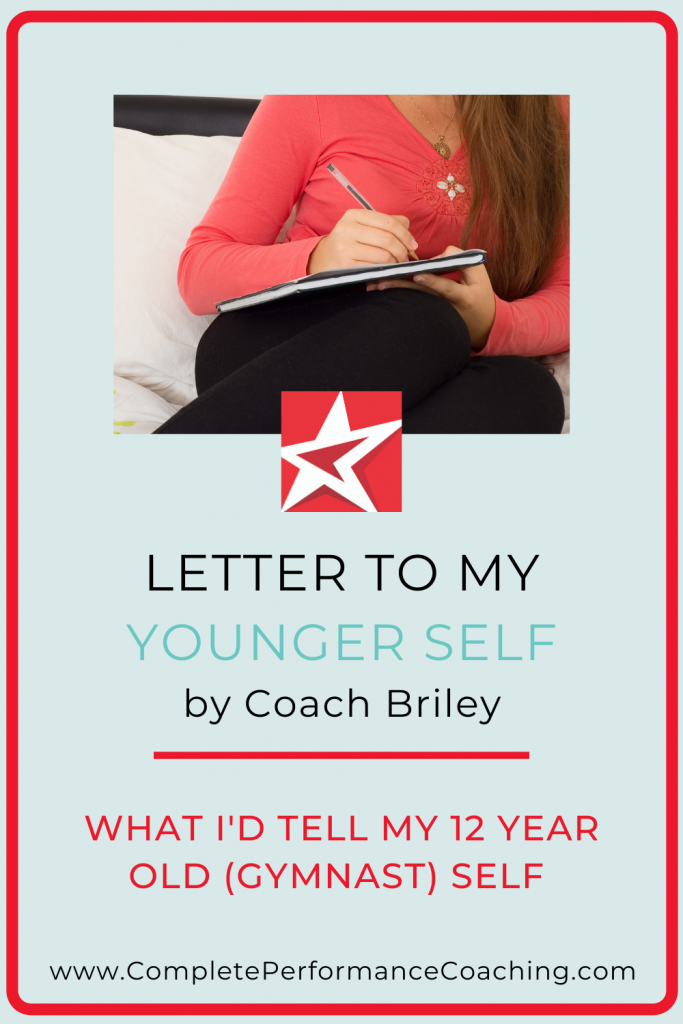 Letter To My Younger Self with Coach Briley