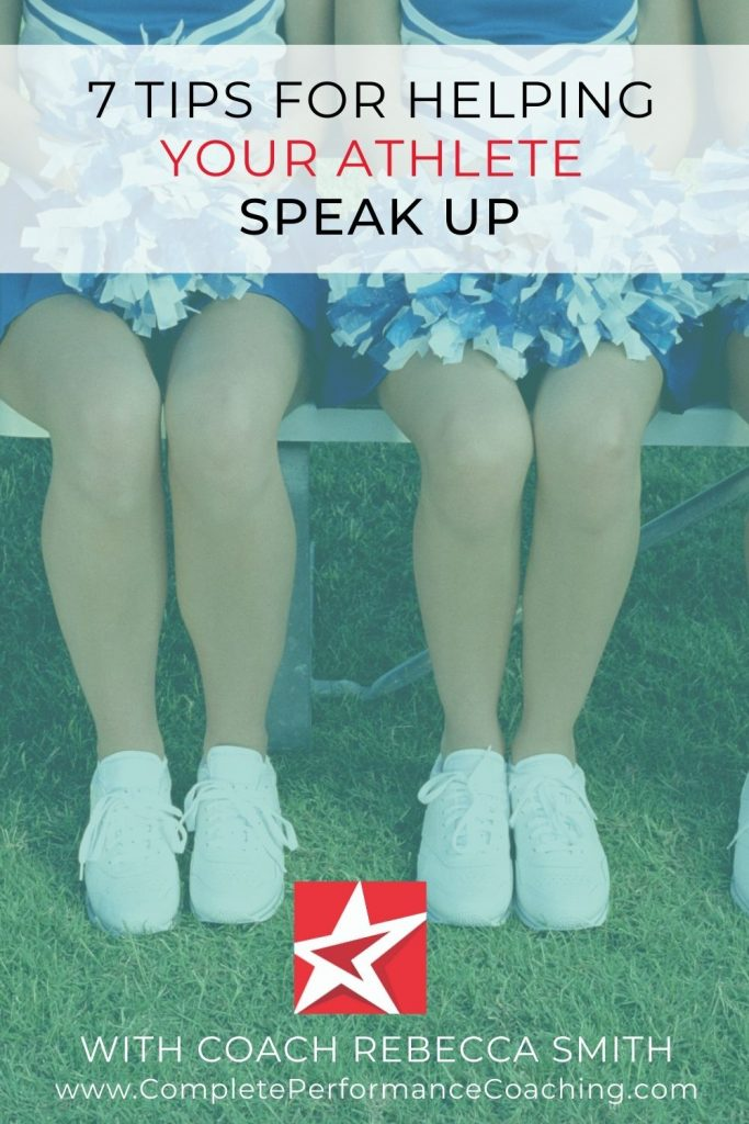 7 Tips For Helping Your Athlete Speak Up